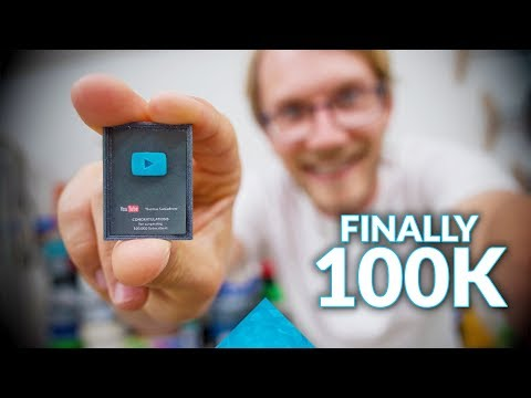 TINY YouTube Play Button for 100K in Custom Filament + GIVEAWAYS