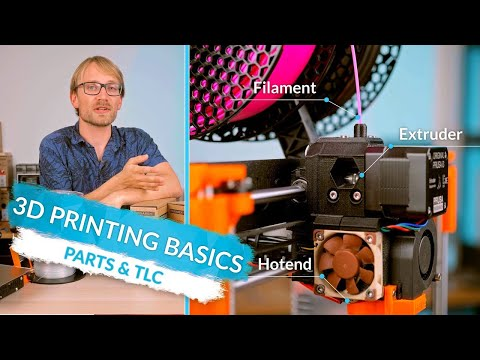3D Printing Basics: Parts names, care, and filament types! (Ep4)