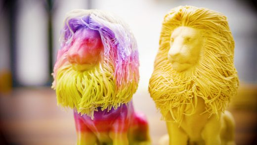 Furry lions