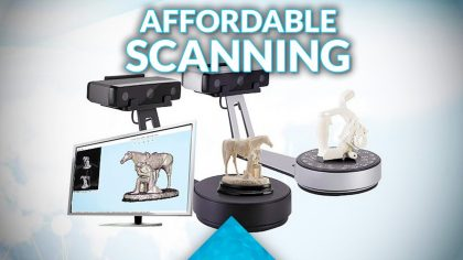 Trying out the Einscan-SP and SE 3D scanners!